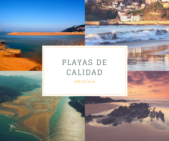 Playas de Bizkaia con bandera azul o con certificación de calidad