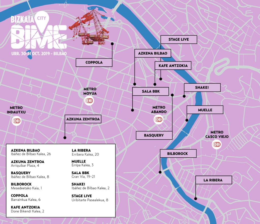 Dónde son los conciertos gratuitos de BIME City 2019