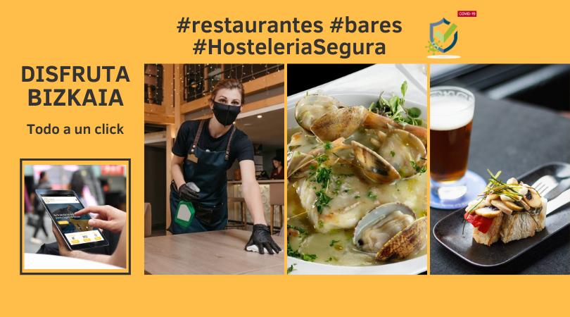Restaurantes y bares con certificado Hostelería Segura en Bilbao